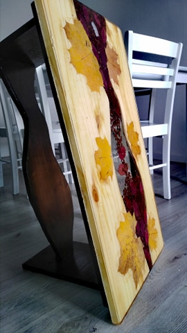 table résine tableau décoratif