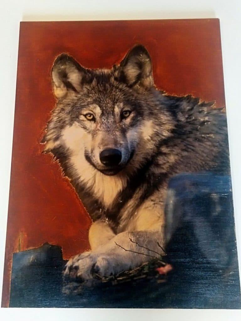 Tableaux muraux maison:tableau décoratif loup