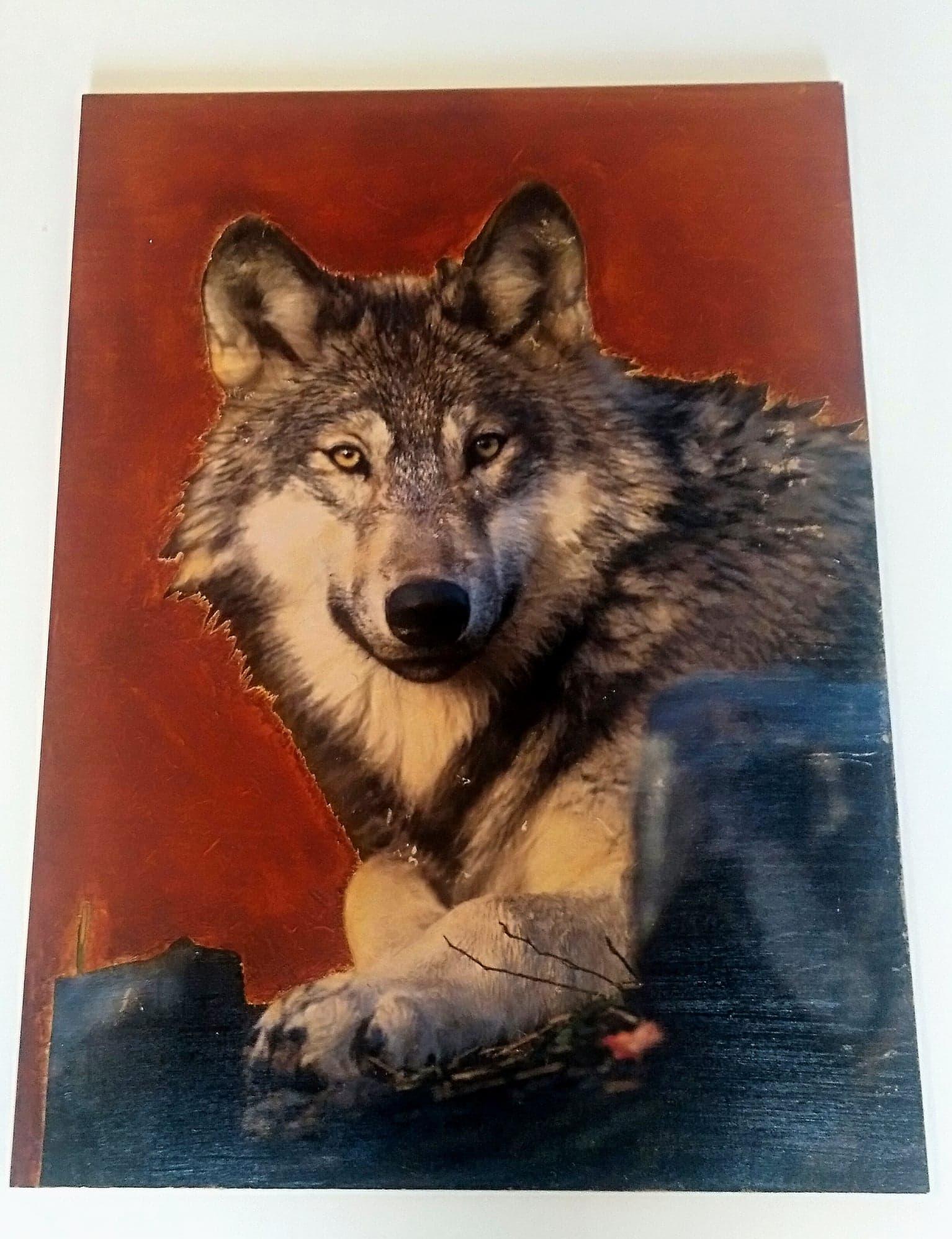 photo tableau décoration murale loup