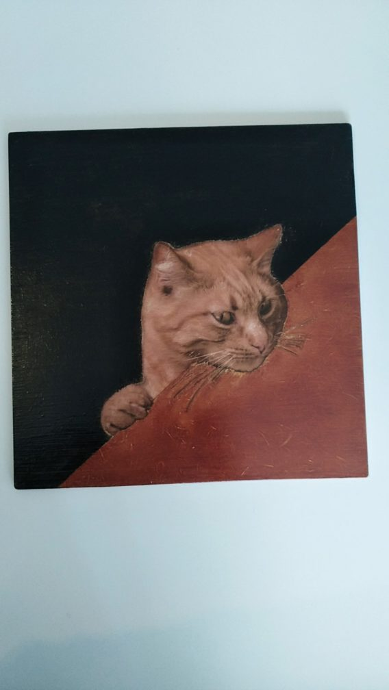 vendre ce magnifique tableau chat