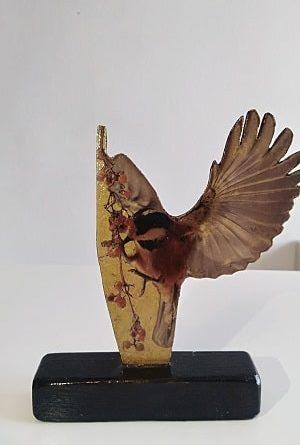 Objet de déco:statuette oiseau,déco originale
