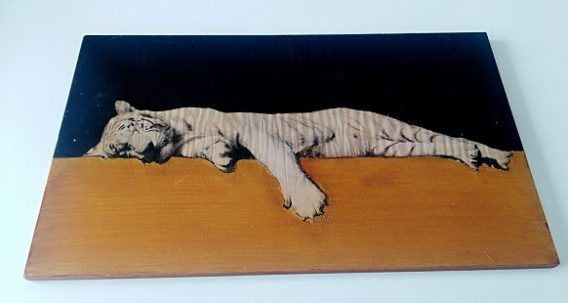 tableau mural ,lionne
