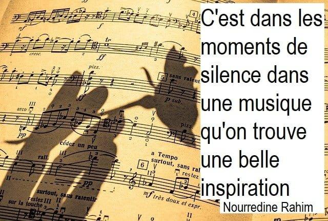 citation sur la musique, inspiration